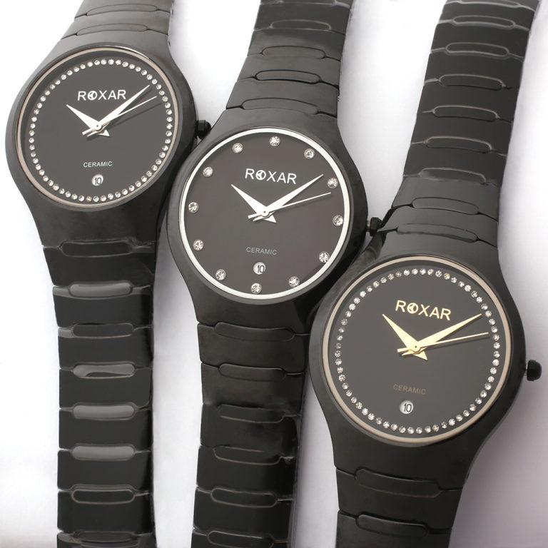 Керамические кварцевые наручные часы Roxar серия LK011
