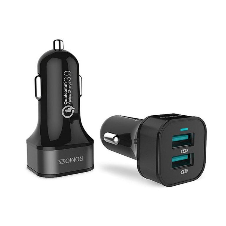 Автозарядка ROMOSS AU36P 36W с 2 USB-портами с функцией быстрой зарядки QC 3.0