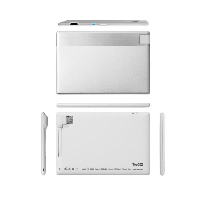 Ультракомпактная внешняя батарея TopON TOP-CARD 850mAh