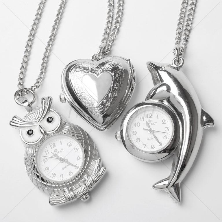 Сувенирные часы кулоны с цепочкой Perfect серия PP818