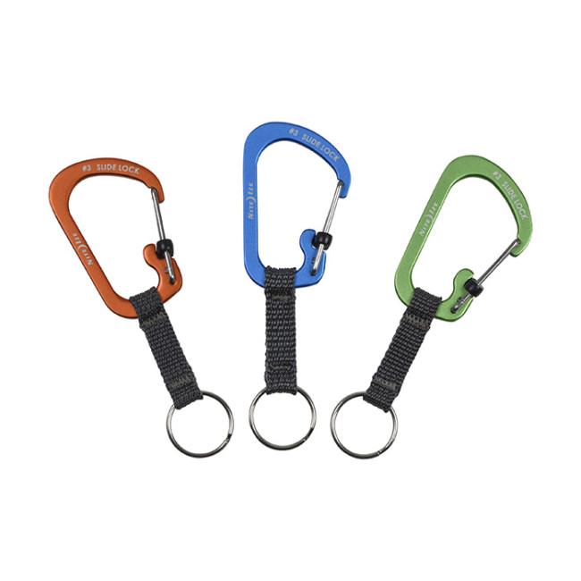 Карабин с блокировкой и кольцом для ключе Nite Ize SlideLock Key Ring